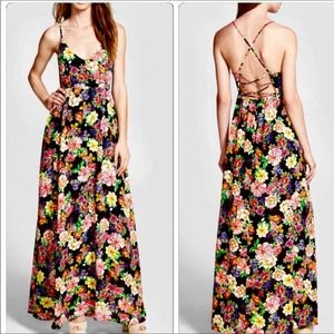 Lucca Couture Floral Maxi Dress XS NWT